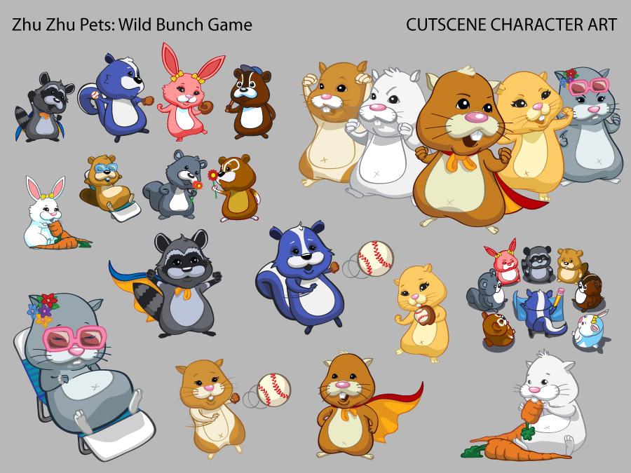 zhu zhu pets wild bunch for wii  u2013 cutscene illustration