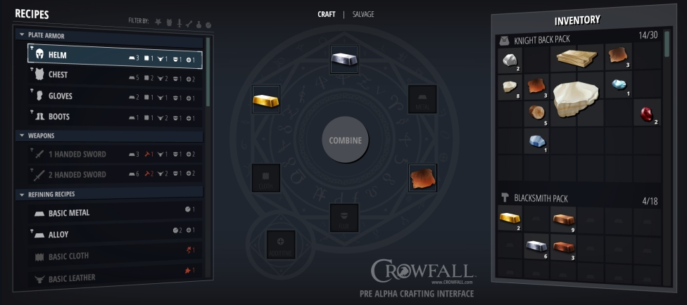 Crowfall_PreAlphaCraftingInterface